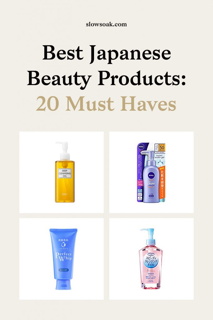 Best Japanese Beauty Products: 20 Must Haves - Visit www.slowsoak.com to discover bathing culture from around the world. japanese beauty, japanese bathing, japanese products, japanese skincare, best beauty products, japanese beauty products skincare, best japanese skincare products, best japanese beauty, japanese bath, japanese cleanser, japanese toner, japanese moisturizer, japanese soap, japanese towels, japanese shampoo, japanese conditioner, japanese face mask, japanese primer, japanese sunscreen, japanese toothpaste, japanese blotting papers, beauty skin care, best beauty products on amazon